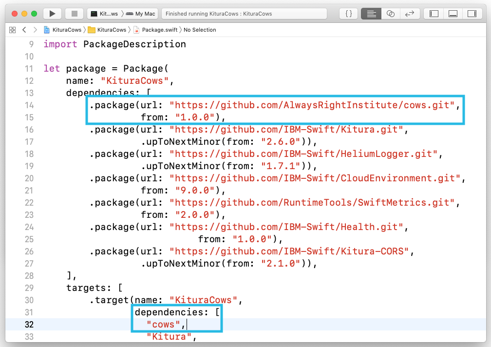 Instant Kitura with SwiftXcode – The Always Right Institute