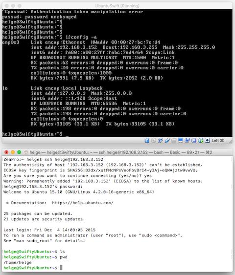 Testing Linux Swift 2 2 on MacOS via VirtualBox – The Always